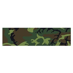 Camouflage Green Brown Black Satin Scarf (Oblong)