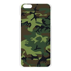 Camouflage Green Brown Black Apple Seamless iPhone 6 Plus/6S Plus Case (Transparent)