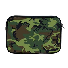 Camouflage Green Brown Black Apple MacBook Pro 17  Zipper Case