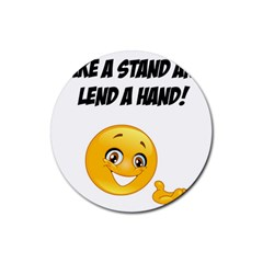 Take A Stand! Rubber Coaster (round)