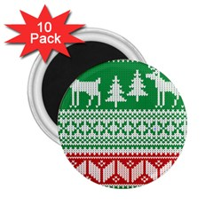 Christmas Jumper Pattern 2.25  Magnets (10 pack)