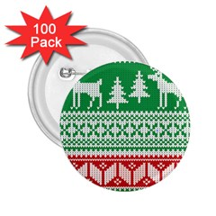 Christmas Jumper Pattern 2.25  Buttons (100 pack)