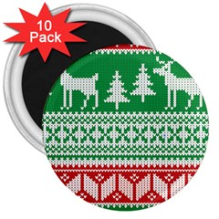 Christmas Jumper Pattern 3  Magnets (10 pack)