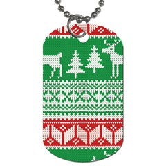 Christmas Jumper Pattern Dog Tag (Two Sides)