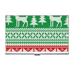 Christmas Jumper Pattern Business Card Holders