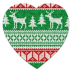 Christmas Jumper Pattern Jigsaw Puzzle (Heart)