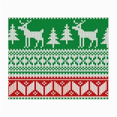 Christmas Jumper Pattern Small Glasses Cloth