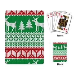 Christmas Jumper Pattern Playing Card