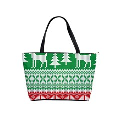 Christmas Jumper Pattern Shoulder Handbags