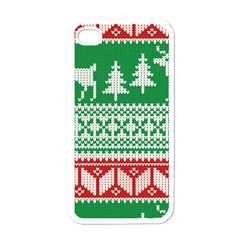 Christmas Jumper Pattern Apple iPhone 4 Case (White)