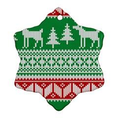 Christmas Jumper Pattern Ornament (Snowflake)