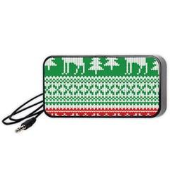 Christmas Jumper Pattern Portable Speaker (Black)