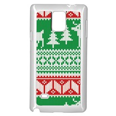Christmas Jumper Pattern Samsung Galaxy Note 4 Case (White)