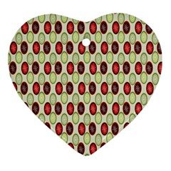 Christmas Pattern Ornament (Heart)