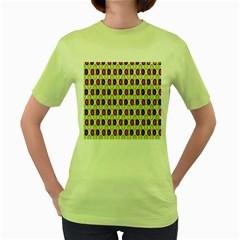 Christmas Pattern Women s Green T-Shirt