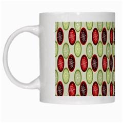 Christmas Pattern White Mugs