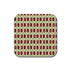 Christmas Pattern Rubber Coaster (Square)