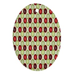 Christmas Pattern Oval Ornament (Two Sides)