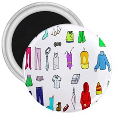 Clothing Boots Shoes Shorts Scarf 3  Magnets