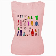 Clothing Boots Shoes Shorts Scarf Women s Pink Tank Top