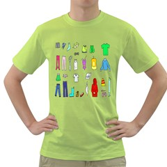 Clothing Boots Shoes Shorts Scarf Green T-Shirt