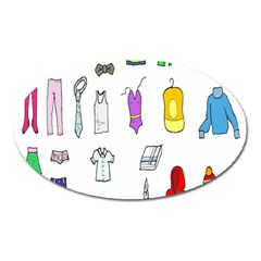 Clothing Boots Shoes Shorts Scarf Oval Magnet