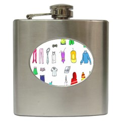 Clothing Boots Shoes Shorts Scarf Hip Flask (6 oz)