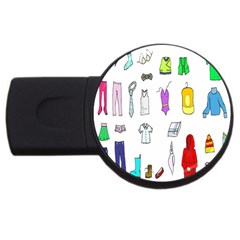 Clothing Boots Shoes Shorts Scarf USB Flash Drive Round (1 GB)