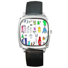 Clothing Boots Shoes Shorts Scarf Square Metal Watch