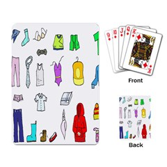 Clothing Boots Shoes Shorts Scarf Playing Card