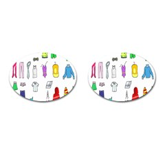 Clothing Boots Shoes Shorts Scarf Cufflinks (Oval)