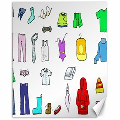 Clothing Boots Shoes Shorts Scarf Canvas 16  x 20