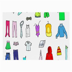 Clothing Boots Shoes Shorts Scarf Large Glasses Cloth (2-Side)