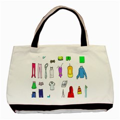 Clothing Boots Shoes Shorts Scarf Basic Tote Bag (Two Sides)