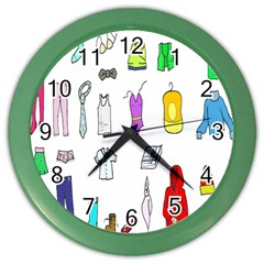 Clothing Boots Shoes Shorts Scarf Color Wall Clocks