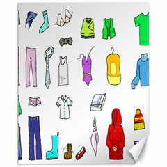 Clothing Boots Shoes Shorts Scarf Canvas 11  x 14