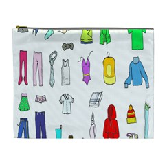 Clothing Boots Shoes Shorts Scarf Cosmetic Bag (XL)