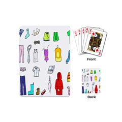 Clothing Boots Shoes Shorts Scarf Playing Cards (Mini)