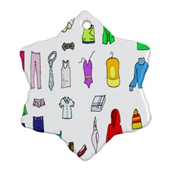 Clothing Boots Shoes Shorts Scarf Snowflake Ornament (Two Sides)