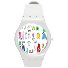 Clothing Boots Shoes Shorts Scarf Round Plastic Sport Watch (M)