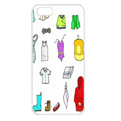 Clothing Boots Shoes Shorts Scarf Apple iPhone 5 Seamless Case (White)