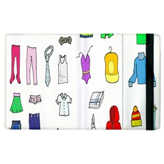 Clothing Boots Shoes Shorts Scarf Apple iPad 2 Flip Case
