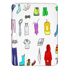 Clothing Boots Shoes Shorts Scarf Samsung Galaxy Tab 3 (10.1 ) P5200 Hardshell Case