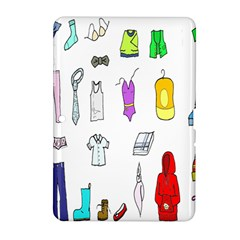 Clothing Boots Shoes Shorts Scarf Samsung Galaxy Tab 2 (10.1 ) P5100 Hardshell Case