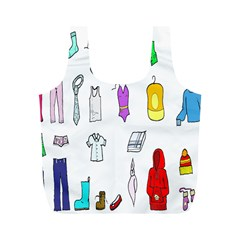 Clothing Boots Shoes Shorts Scarf Full Print Recycle Bags (M)