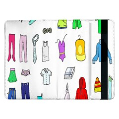 Clothing Boots Shoes Shorts Scarf Samsung Galaxy Tab Pro 12.2  Flip Case