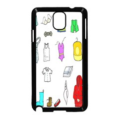 Clothing Boots Shoes Shorts Scarf Samsung Galaxy Note 3 Neo Hardshell Case (Black)
