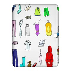Clothing Boots Shoes Shorts Scarf Samsung Galaxy Tab 4 (10.1 ) Hardshell Case