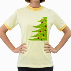 Christmas Tree Christmas Women s Fitted Ringer T-Shirts