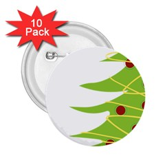 Christmas Tree Christmas 2.25  Buttons (10 pack)